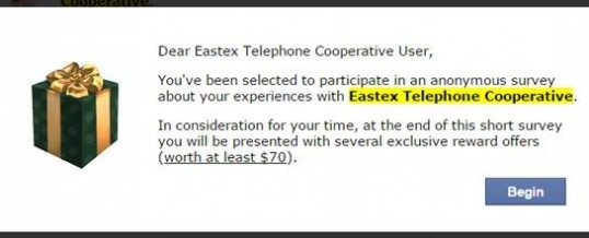 EASTEX SURVEY WARNING